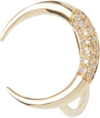 Jacquie Aiche Partial Pave Crescent Horn Ring