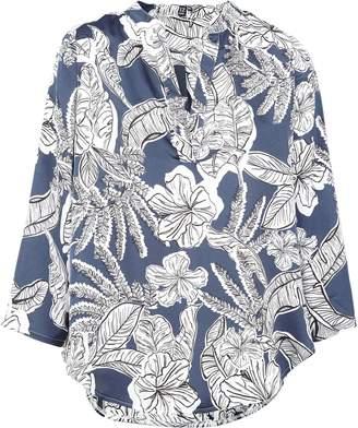 Dorothy Perkins Womens *Izabel London Multi Colour Floral Print Dip Back Blouse