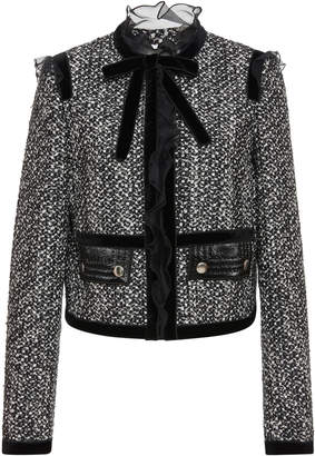 Giambattista Valli Ruffled Bow-Detailed Tweed Jacket