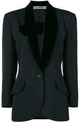 Jean Louis Scherrer Pre-Owned bow-detail tuxedo jacket