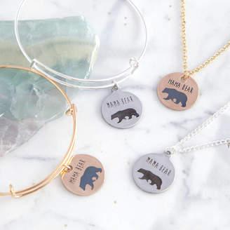 Junk Jewels Mama Bear Necklace Or Bangle