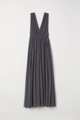 H&M Long Mesh Dress - Gray