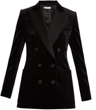 Bella Freud Bianca velvet double-breasted jacket