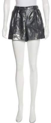 Chanel High-Rise Metallic Shorts