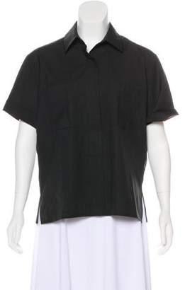 Reed Krakoff Short Sleeve Wool Top
