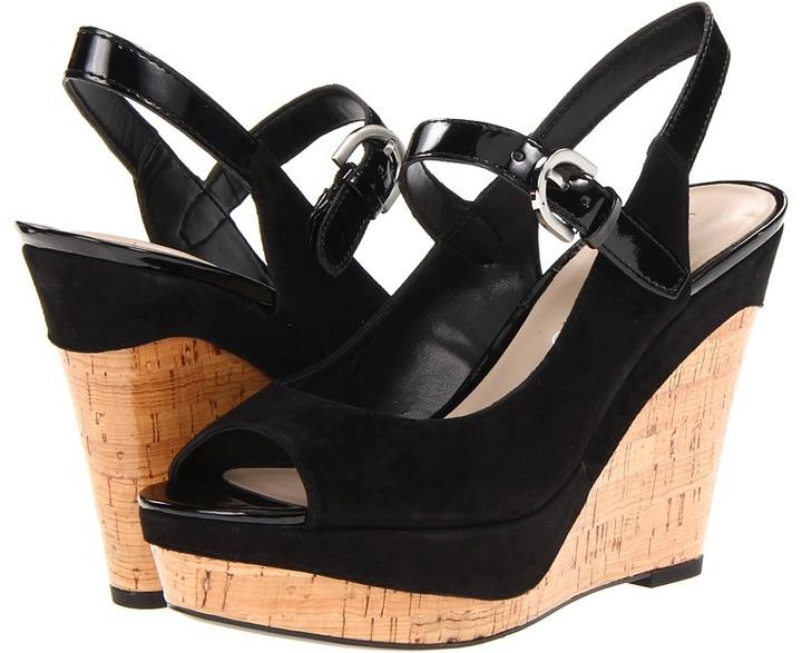 Franco Sarto Roxanne (Black Suede/Patent) - Footwear