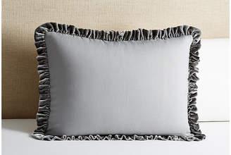 Linen Salvage Et Cie Velvet Ruffle Sham - Gray