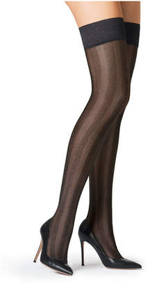 Fogal Striped Stay-Up Stockings