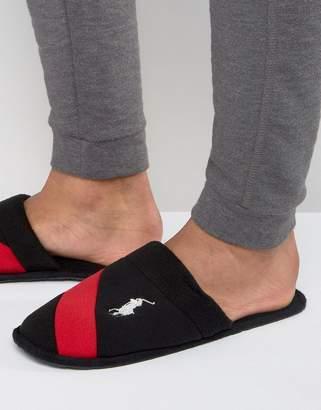 Ralph Lauren Rugby Crest Slip On Slippers