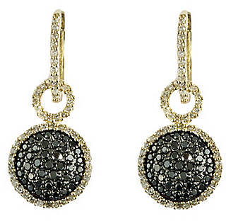 EFFY COLLECTION Black Diamond Drop Earrings in 14 Kt. Yellow Gold, 1.08 ct. t.w.