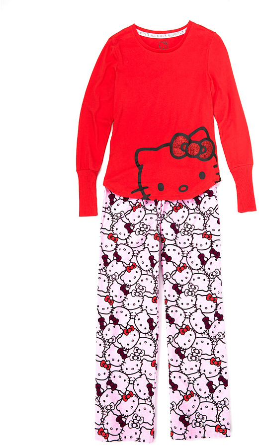 Hello Kitty Iconic Flannel Pajama Set - Juniors