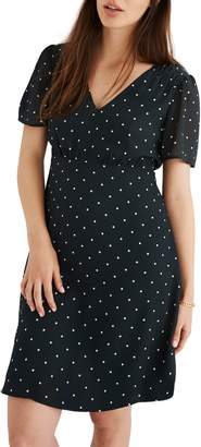 Madewell Dot Smocked Shoulder Dress