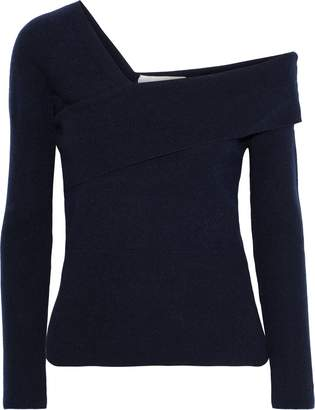 Mason by Michelle Mason One-shoulder Layered Wool And Cashmere-blend Sweater