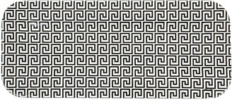 Fornasetti Greca Tray - 25x60cm - Black/White