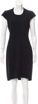Helmut Lang Cap-Sleeve Knee-Length Dress