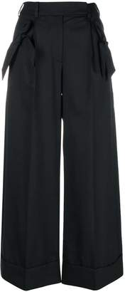 Simone Rocha cropped wide-leg trousers