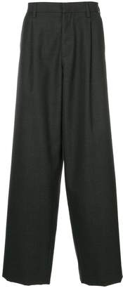 Kolor drop-crotch wide leg trousers