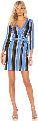 Diane von Furstenberg Mini Woven Wrap Dress