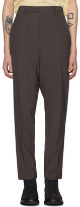 Rick Owens Grey Long Astaires Trousers