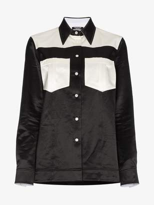 Calvin Klein Two Tone Satin Shirt