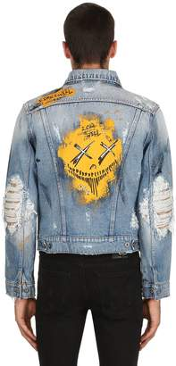 Burton Mjb - Marc Jacques Pax Iii Hand-Painted Denim Jacket