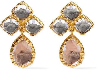 Larkspur & Hawk - Sadie Cluster Small Gold-dipped Quartz Earrings