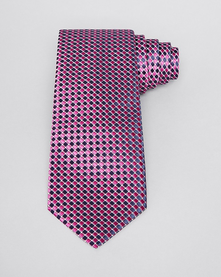 HUGO BOSS Diamond Pattern Classic Tie