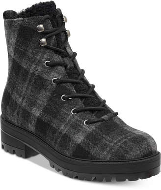 Indigo Rd Izma Faux-Fur Hiker Booties Women's Shoes