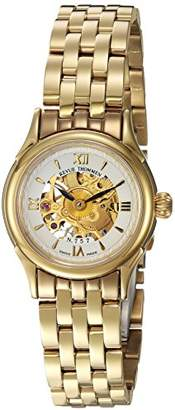 Revue Thommen Women's 12501-3112 Skeleton 80 Analog Display Mechanical Hand Wind Gold Watch