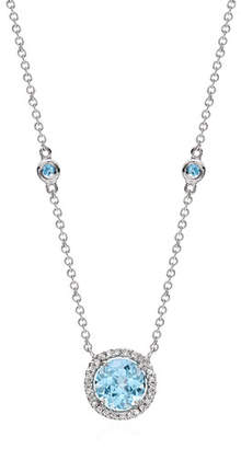 Kiki McDonough Grace Blue Topaz & Diamond Necklace
