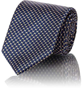 Barneys New York Men's Chain-Link-Print Silk Satin Necktie