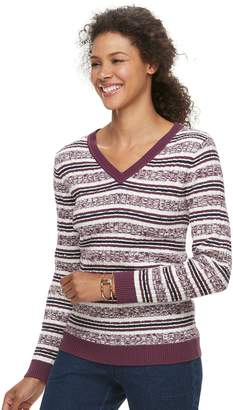Croft & Barrow Petite V-Neck Lightweight Sweater