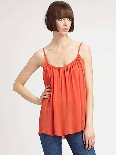 L'Agence Shirred Camisole