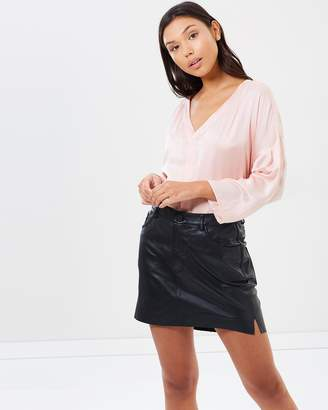 One Teaspoon Leather 2020 Mini Skirt