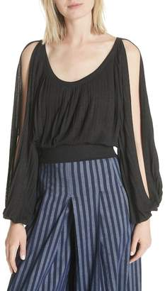 Tracy Reese Slit Sleeve Peasant Top