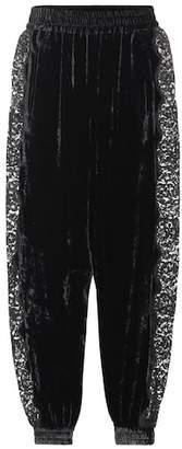 Stella McCartney Velvet and lace pants
