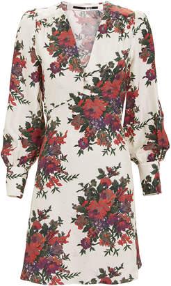 McQ Floral Boudoir Mini Dress