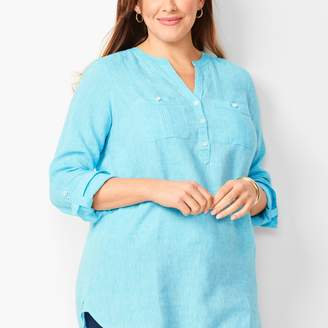 Talbots Linen Camp Shirt - Cross Dyed
