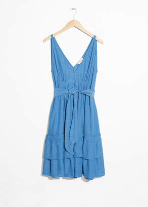 And other stories Ruffled Empire Waist Dress