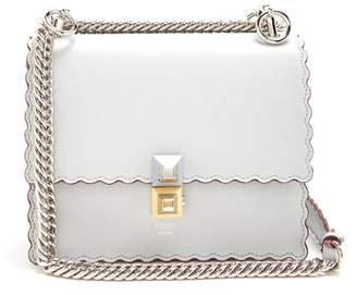 Fendi Kan I Small Leather Cross Body Bag - Womens - Light Blue