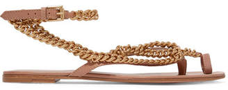 Gianvito Rossi Embellished Leather Sandals - Neutral
