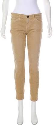 Current/Elliott Mid-Rise Polka Dot Jeans