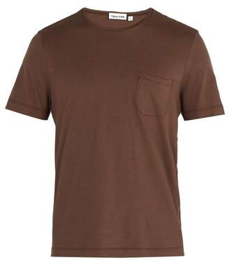 Thorsun - Crew Neck Cotton Jersey T Shirt - Mens - Brown