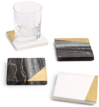 Hotel Collection Closeout! 4-Pc. Marble Coaster Set, Created for Macy's