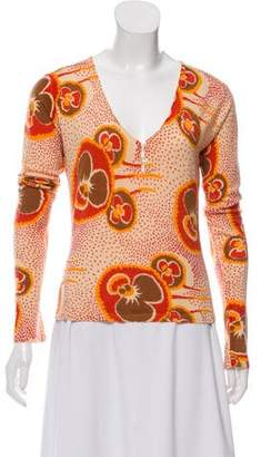 John Galliano Cashmere Patterned Top