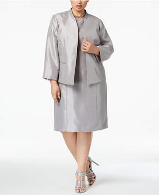 Le Suit Plus Size Flyaway Dress Suit