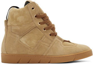 Loewe Camel Suede High-Top Sneakers
