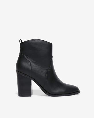Express Thick Heel Western Booties