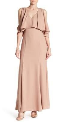 Marina V-Neck Cold Shoulder Dress