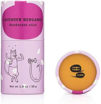 Meow Meow Tweet Mini Deodorant Stick - Lavender Bergamot by 1.8oz Deo Stick)